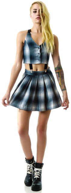 UNIF Dropout Suspender Dress | Dolls Kill