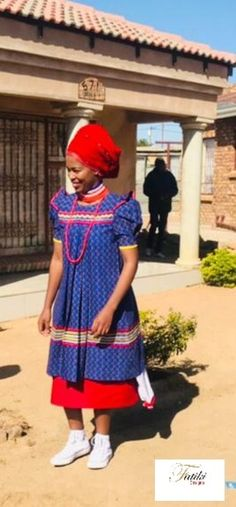 Pedi Traditional Attire, Sepedi Traditional Dresses, African Fashion Traditional, African Traditional Wedding, Traditional Weddings, Traditional Styles, African Attire, African Wear, African Dress
