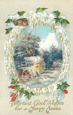 Heartiest good wishes for a merry Xmas. #vintage #Christmas #cards