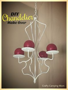DIY Chandelier Make Over – Budget friendly makeover with Fake Foam Candles and a… - Diy-Selbermachen Easy Craft Projects, Diy Home Decor Projects, Craft Tutorials, Easy Crafts, Diy And Crafts, Chandelier Makeover, Diy Chandelier, Doll Painting, Camping Crafts