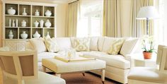 Benjamin Moore Cream Fleece walls, White Dove trim - Neutral Territory   Atlanta Homes & Lifestyles
