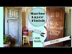 How to Blend Paint with a Spray bottle and use Clay Furniture Molds - YouTube