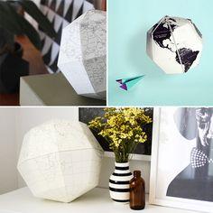 Paper globe printable template