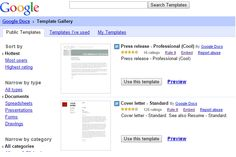 Save time with Google docs templates
