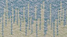 Hand Woven Rug - Turquoise and Green by Agnis Smallwood £45.00