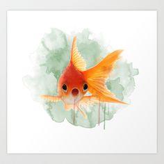 Goldfish Art Print by Sarah Sutherland - $16.00