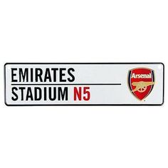 Arsenal fc football club metal emirates #stadium n5 #street road sign #official,  View more on the LINK: http://www.zeppy.io/product/gb/2/272150873356/
