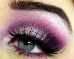 bright purple smokey eye make up