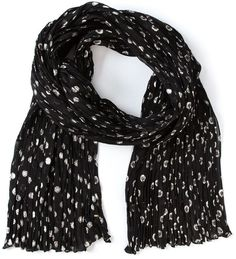 $995, Saint Laurent Polka Dot Scarf. Sold by farfetch.com. Click for more info: https://lookastic.com/women/shop_items/175657/redirect