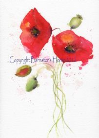 RED POPPIES WATERCOLOUR FINE ART GICLEE PRINT