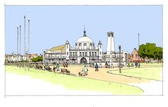 North Tyneside Council release details of their much anticipated plan for Whitley Bay sea-front and Spanish City Dome Backpacking Spain, Spain Culture, Spain Holidays, Spain Travel, Where To Go, Lighthouse, Taj Mahal, Coastal, Spanish