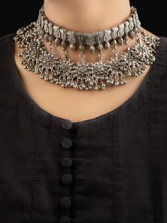 Buy Silver Toned Handcrafted Brass Necklace | ssy/pn/nck3/YES3 | The loom Latest Kurti Design LATEST KURTI DESIGN : PHOTO / CONTENTS  FROM  IN.PINTEREST.COM #FASHION #EDUCRATSWEB