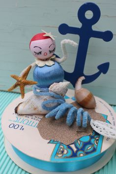 Every summer the mermaids swim to Etsy. I love this time of year when the tides bring in these charming gals. This year I also made a few with vintage storybook dolls. Last year I made some with Kewpie dolls. Pipe Cleaner Crafts, Pipe Cleaners, Chenille Crafts, Crafty Craft, Crafting, Nautical Party, Mermaid Dolls, Vintage Crafts, Beach House Decor