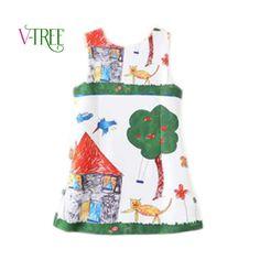 $13.98 (Buy here: https://alitems.com/g/1e8d114494ebda23ff8b16525dc3e8/?i=5&ulp=https%3A%2F%2Fwww.aliexpress.com%2Fitem%2FNew-2016-spring-girls-dress-European-style-sleeveless-princess-dress-for-girls-Brand-Scrawl-Print-Dress%2F32606963370.html ) New 2016 spring girls dress European style sleeveless princess dress for girls Brand Scrawl Print Dress Kids Dresses clothes for just $13.98