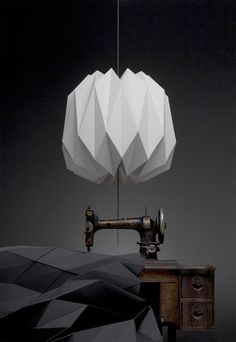 SUPER nice! Fractales Lamps by Dario Stanziano and Batti  textile pendant lamp