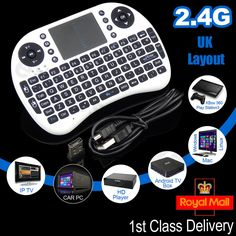 New 2.4G Wireless Mini Fly Air Keyboard Mouse Touchpad For Laptop Xbox PC PS3 UK