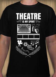 Theatre organization t-shirt design idea and template. Design Your Own, My Design, Scrubs, Shirt Designs, Graduation, Template, Student, Organization, School