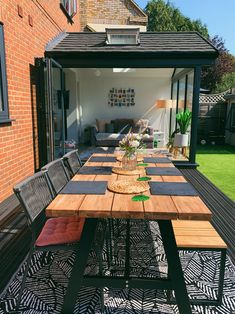 Our Garden Renovation - Katie Ellison Back Garden Design, Backyard Garden Design, Small Back Garden Ideas, Garden Room Extensions, House Extensions, Conservatory Extension, Small Conservatory, Patio Edging, Recycled Windows