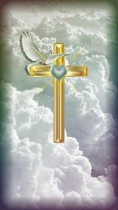 🕊️Cross your Heart🕊️ Cross Wallpaper, Jesus Wallpaper, Cute Wallpaper Backgrounds, Iphone Wallpaper, Cross Background, Cross Pictures, Pictures Of Crosses, Pictures Of Jesus Christ, Image Beautiful
