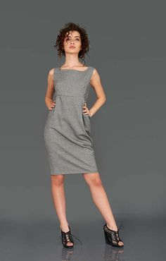 Hey, I found this really awesome Etsy listing at https://www.etsy.com/listing/286035147/grey-minimalist-dress-summer-dress-plus