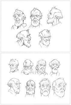Head studies Seraphim - Satoshi Kon & Mamoru Oshii ★ || CHARACTER DESIGN REFERENCES | キャラクターデザイン •