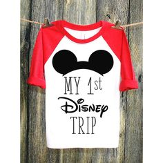 My 1st Disney Trip Disney Shirts Disney Family Shirts Best Day Ever... (26 AUD) ❤ liked on Polyvore featuring tops, t-shirts, white, women's clothing, mickey mouse t shirt, white t shirt, crew neck t shirt, long sleeve t shirts and long sleeve shirts