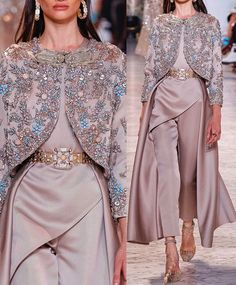 Couture Fashion, Hijab Fashion, Fashion Dresses, Star Fashion, Indian Fashion, Designer Party Dresses, Dress Indian Style, Embroidery Fashion, Minimal Fashion