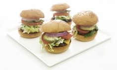 Sliders and fries party. Mini burgers!