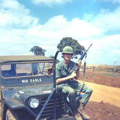 A War Eagle soldier in Vietnam