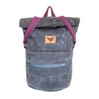 BUB - Slate/Charcoal with blue waterproof zipper and inner laptop sleeve Blind Chic.