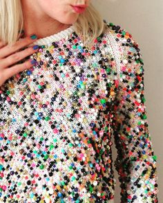 «White beaded sweater on ✌️ Knit Fashion, Fashion Outfits, Diy Clothing, White Beads, Knitwear, Knit Crochet, Knitting Patterns, Creations, My Style