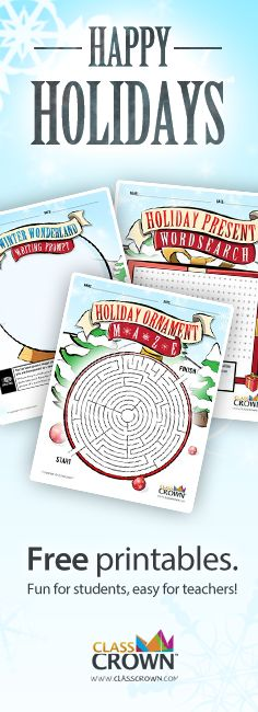 Need some fun activities for this kiddos before the holidays? Check out these free printables.
