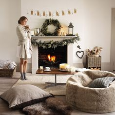 Buy At Home > Christmas Decorations > Mini Pine Cone Garland from The White Company Cosy Christmas, All Things Christmas, Christmas Home, Christmas Lounge, Rustic Christmas, White Christmas, The White Company, Piece A Vivre, Merry And Bright