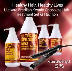 ULTIKARE 5pcs/set purifying shampoo+1000ml keratin+daily shampoo and conditioner hair iron brazilian keratin for hair #Affiliate