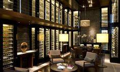 Choose your wine at The Chedi in Andermatt, Switzerland. #hotel #interior #inspiriation