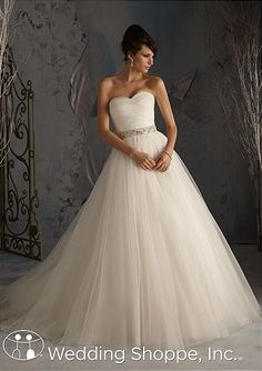 wedding dress modified a-line