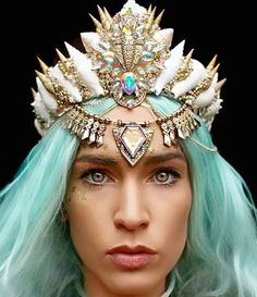 Have you ever wanted to be a mermaid? With Chelsea Shiels' (@chelseasflowercrowns) seashell-encrusted crowns, you're now one step closer to living the fantasy.