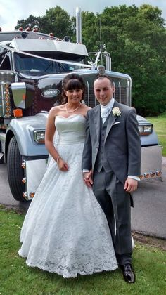 This Ufton bride arrived in an american truck!