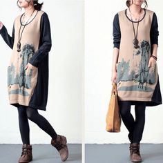 Women winter loose pullover cotton knitting sweater