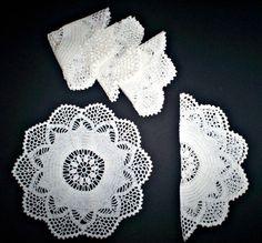 Centrini di cotone bianco realizzati a mano di NikkisDreamscape
