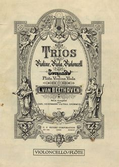 Beethoven String Trios, Undated / Nathan Godding