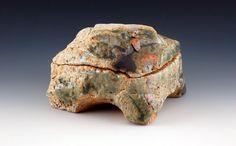 """Lucien Koonce Incense Box Porcelaneous Stoneware 2.0"""" H x 2.5"""" W x 2.5"""" D 2013"""