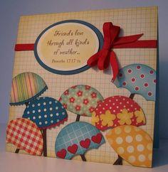handmade cards ideas | handmade card with umbrellas