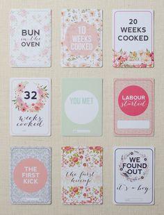 Printz Pregnancy Milestone Cards Preview