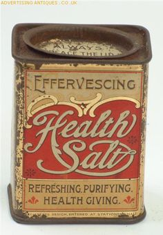 Health Salt, circa 1900