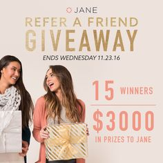 Jane.com 2016 black friday giveaway! I entered the Jane.com #Giveaway for a chance to win awesome prizes!