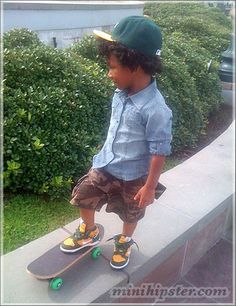 i want a son who wear denim button downs and  can skateboard.
