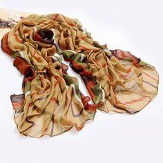 Versatile Striped Color Patchwork Scarf For Women, APRICOT in Scarves | DressLily.com