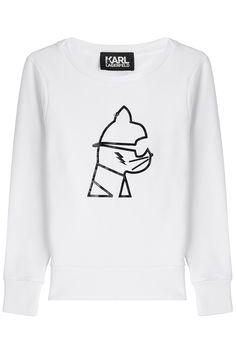 KARL LAGERFELD Graphic Statement Sweatshirt. #karllagerfeld #cloth #sweatshirts