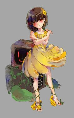 Anime Undertale, Frisk, Flowey The Flower, Fanart, Yandere, Victorian Era, Cool Art, Gallery, Fictional Characters